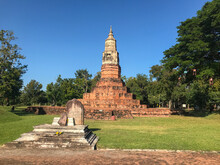 Phra That Ya Khu Temple, Ancient Town Of Fa Daed Song Yang In Kalasin, Thailand.
