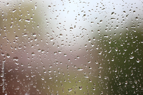 Canvas drops rain glass background texture, abstract seasonal autumn background water d