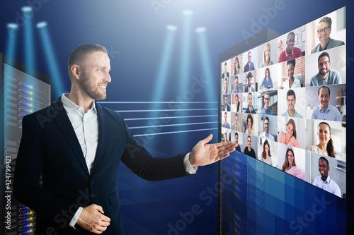 Papel de parede Virtual Event Conference Or Convention