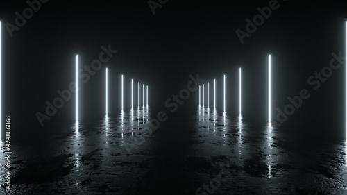 Fotografie, Obraz Futuristic sci fi bacgkround