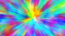 Color Neon Gradient. Tie Dye Watercolor Background. Moving Abstract Blurred Background. The Colors Vary With Position. Multicolored Spectrum. 3d Illustration