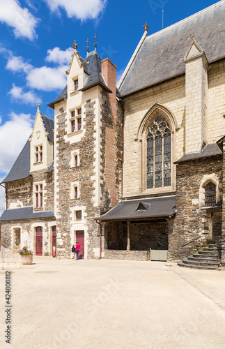 Angers, France. Medieval buildings inside the fortress: chapel and residential building