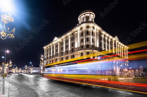 Fototapeta Warszawa autobus na Starym Mieście obraz