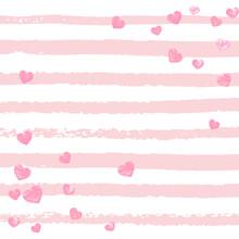 Glitter Template. Christmas Illustration. Pink