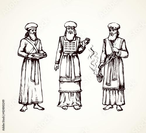 High Priest. Vector drawing Fototapet