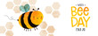 World Bee Day cute bumblebee cartoon banner