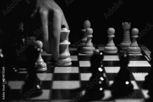 Fototapeta gra w szachy  obraz
