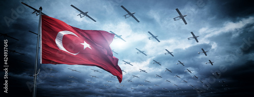 Tela Turkish military combat drone