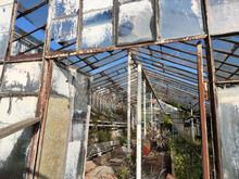 Old Abandoned Greenhouse Broken Windows