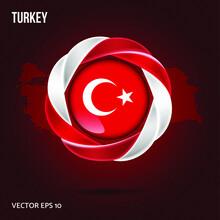 Flag Turkey Pin 3d Design