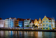 Curacao, Netherlands Antilles View Of Colorful Buildings Of Downtown Willemstad Curacao Caribbean Island