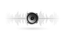 Elegant Music Speaker Background Design
