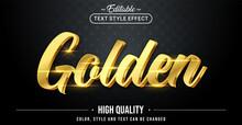 Editable Text Style Effect - Golden Text Style Theme.