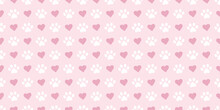 Pastel Pink And White Paw Pattern With Hearts Background