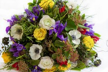 Flower Bouquet Easter Colorful Give Spring Flowers Bouquet Of Flowers