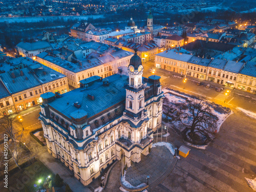 Photo Nowy Sacz city hall at dawn