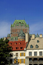 Quebec; Canada- June 25 2018 : Le Chateau Frontenac