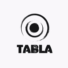 India Tabla Logo Graphic Trendy Vector Design.