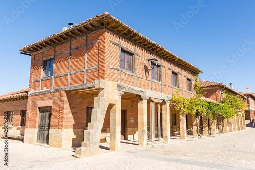 the main square (Plaza Mayor) in Calatanazor, province of Soria, Castile and Leon, Spain