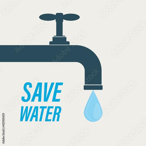 Obraz na plátně Save water, concept banner