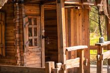 Little Wooden Hut In Musicians Park, Shekvetili, Georgia.