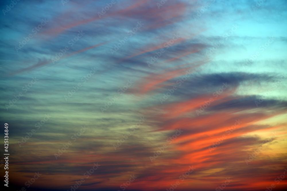 Fototapeta Beautiful Dramatic Sky at Sunset