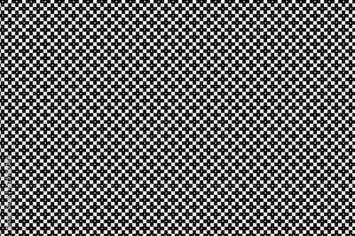 Slika na platnu Patrón de cruces negras sobre fondo blanco ordenadas en diagonal