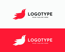 Flying Bird Logo And Icon. Sparrow Modern Logo Design. Fly Wing Professional Icon Logotype. Trendy Gradient Design Template For App, Web, Business Or, Corporate Identity. Vector Illustration.