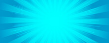 Background In Cartoon Comics Book Style. Rays From Burst. Vector Illustration.