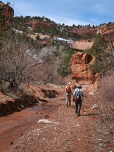 Backpacking In The Rugged Red Rock Country.