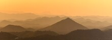 Panoramic Beautiful Landscape From The Viewpoint On Top Mountain At Loei Province, Thailand.