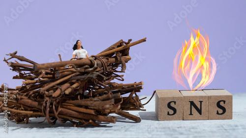 Stampa su Tela SNSの炎上と周囲からのつるし上げ