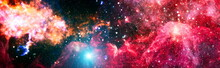 High Quality Space Background. Explosion Supernova. Bright Star Nebula. Distant Galaxy. Abstract Image. Elements Of This Image Furnished By NASA.