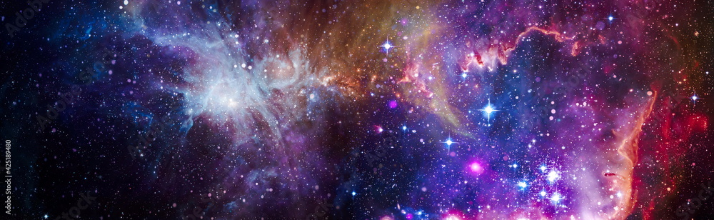 Fototapeta Deep space. High definition star field background . Starry outer space background texture . Colorful Starry Night Sky Outer Space background