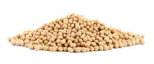 Heap Of Soya Beans Isolated On White