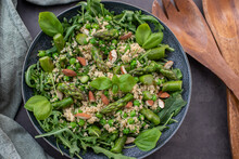 Healthy Spring Couscous Salad With Asparagus And Herbs
