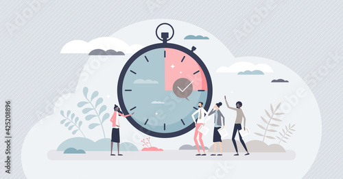 Canvas Print Timebox time interval for precise project management tiny person concept