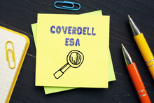 COVERDELL ESA Education Savings Account Inscription On The Page.