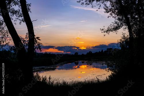 Fototapeta Zachód słońca nad Pasternikiem obraz