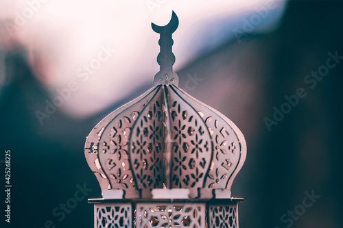 Fototapeta Arabic lantern, Ramadan kareem background