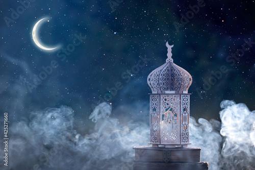 Arabic lantern, Ramadan kareem background Fotobehang