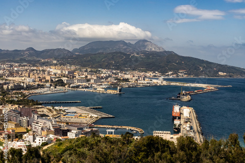 view of the bay and port of ceuta (spain)