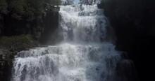 Chittenango Falls State Park Pan Forwards While Rising