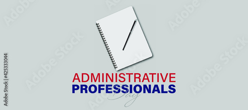 Vector Illustration of Administrative Professionals Day, Secretary Day holiday, Fototapet