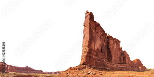 Fotografiet A rock formation named Tower of Babel in the desert landscape of Arches National Park