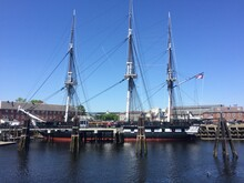 USS Constitution (a.k.a. Old Ironsides) Frigate Of The United States Navy. This Museum Ship Currently Is At Charlestown (Boston) Navy Yard. Boston, Massachusetts, United States