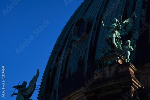 Canvas Die um 1800 Gebaute Catedrale in Berlin sieht man auf dem Bild