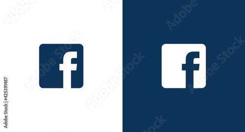 Obraz Facebook logo for web and mobile - fototapety do salonu