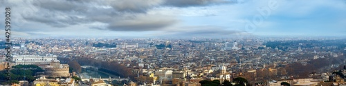 Fotografie, Obraz Rome city top panorama, Italy. All people are unrecognizable.
