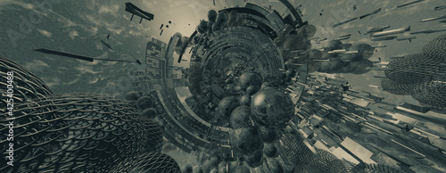 Fotografia 3d illustartion of big data connection complex